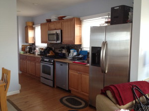 All new cabinets, countertops, fixtures and appliances.